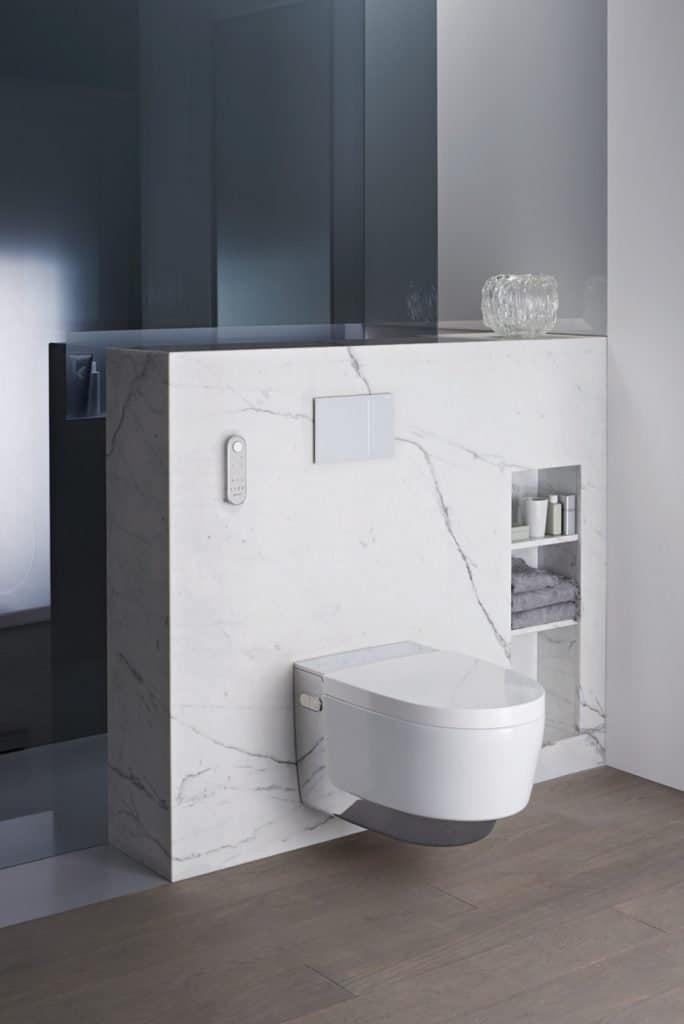 Das WC, das Sie mit Wasser reinigt!